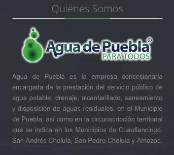 Concesionaria del Agua en Puebla.
